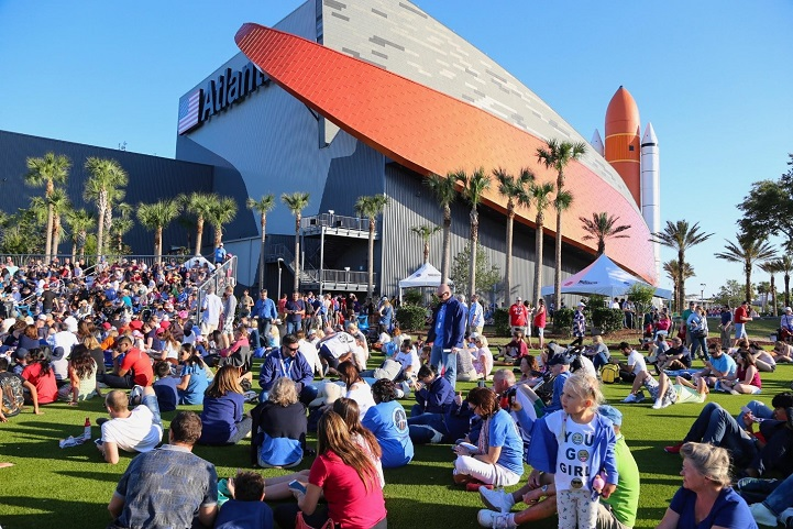 Kennedy Space Center Visitors View Rocket Launches from Biobased Artifical Grass